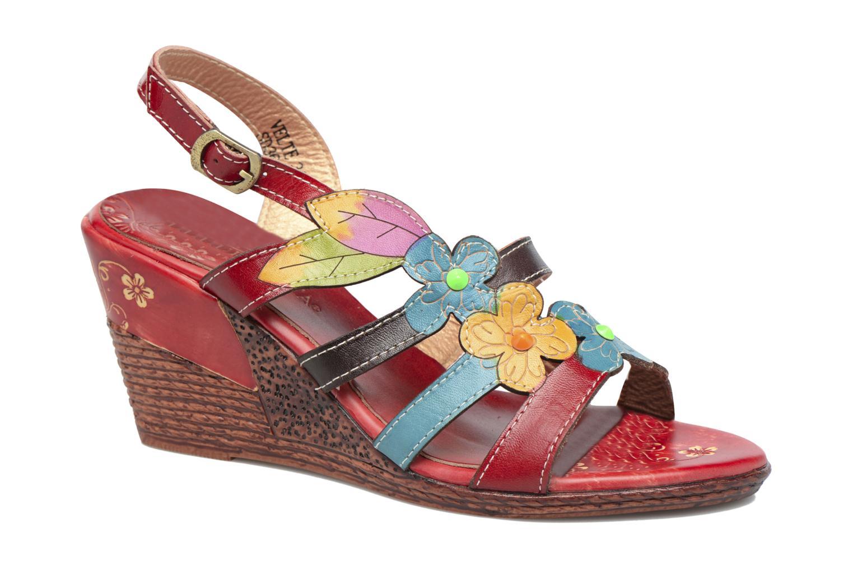 Sandales et nu-pieds Laura Vita Velte Rouge vue détail/paire