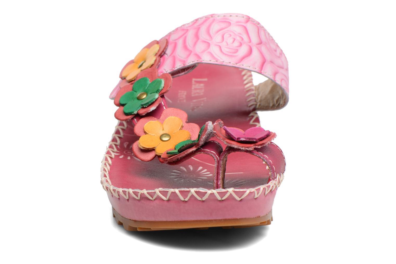 Sandales et nu-pieds Laura Vita Valeur Rose vue portées chaussures