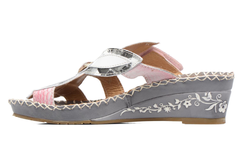 Sandales et nu-pieds Laura Vita Valo Gris vue face