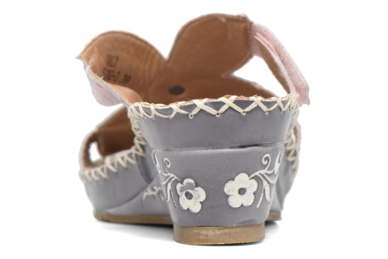 Sandales et nu-pieds Laura Vita Valo Gris vue droite