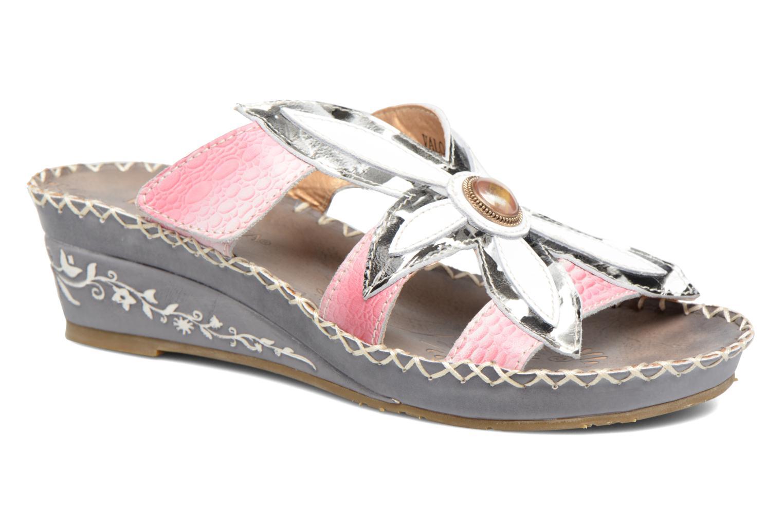 Sandales et nu-pieds Laura Vita Valo Gris vue détail/paire