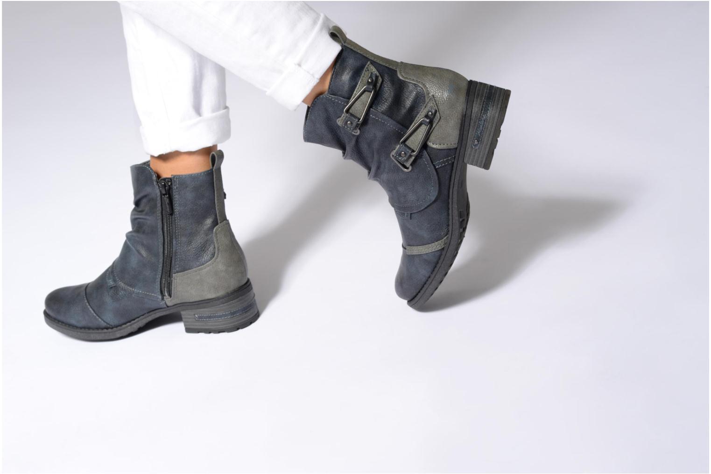 Bottines et boots Mustang shoes Eclewi Bleu vue bas / vue portée sac