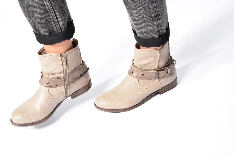 Bottines et boots Mustang shoes Himdele Bleu vue bas / vue portée sac