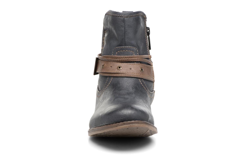 Bottines et boots Mustang shoes Himdele Bleu vue portées chaussures