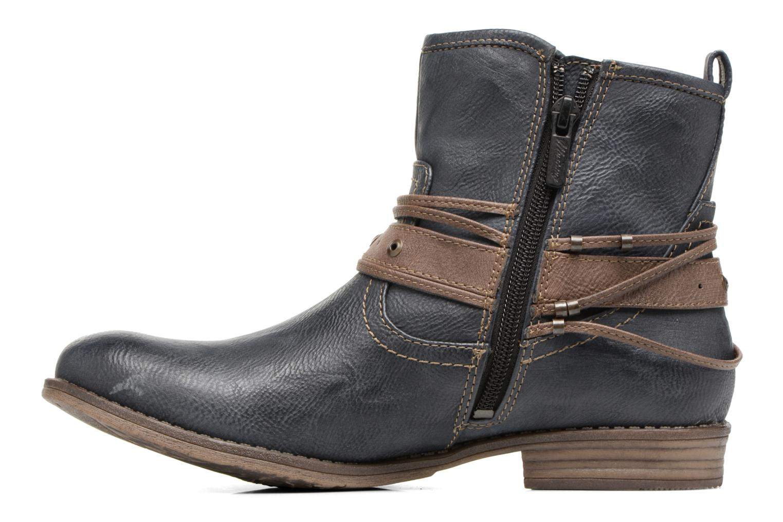 Bottines et boots Mustang shoes Himdele Bleu vue face