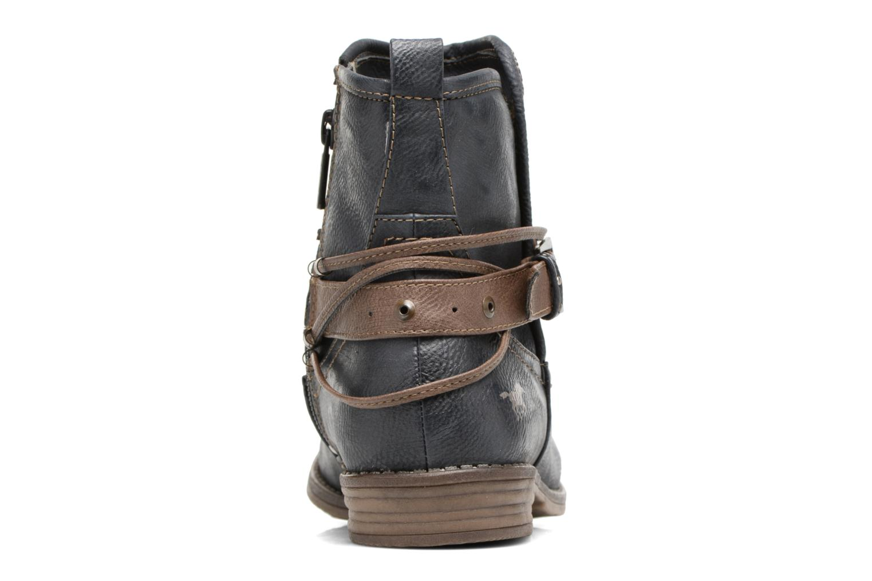 Bottines et boots Mustang shoes Himdele Bleu vue droite