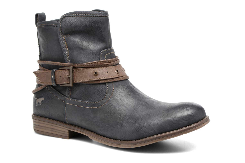 Bottines et boots Mustang shoes Himdele Bleu vue détail/paire