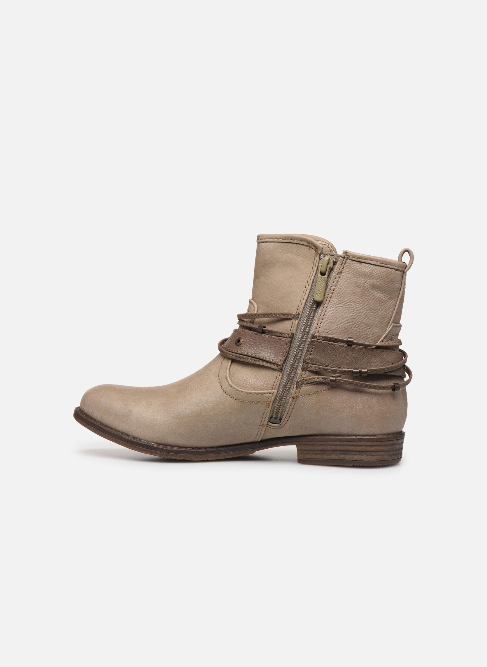 Bottines et boots Mustang shoes Himdele Beige vue face
