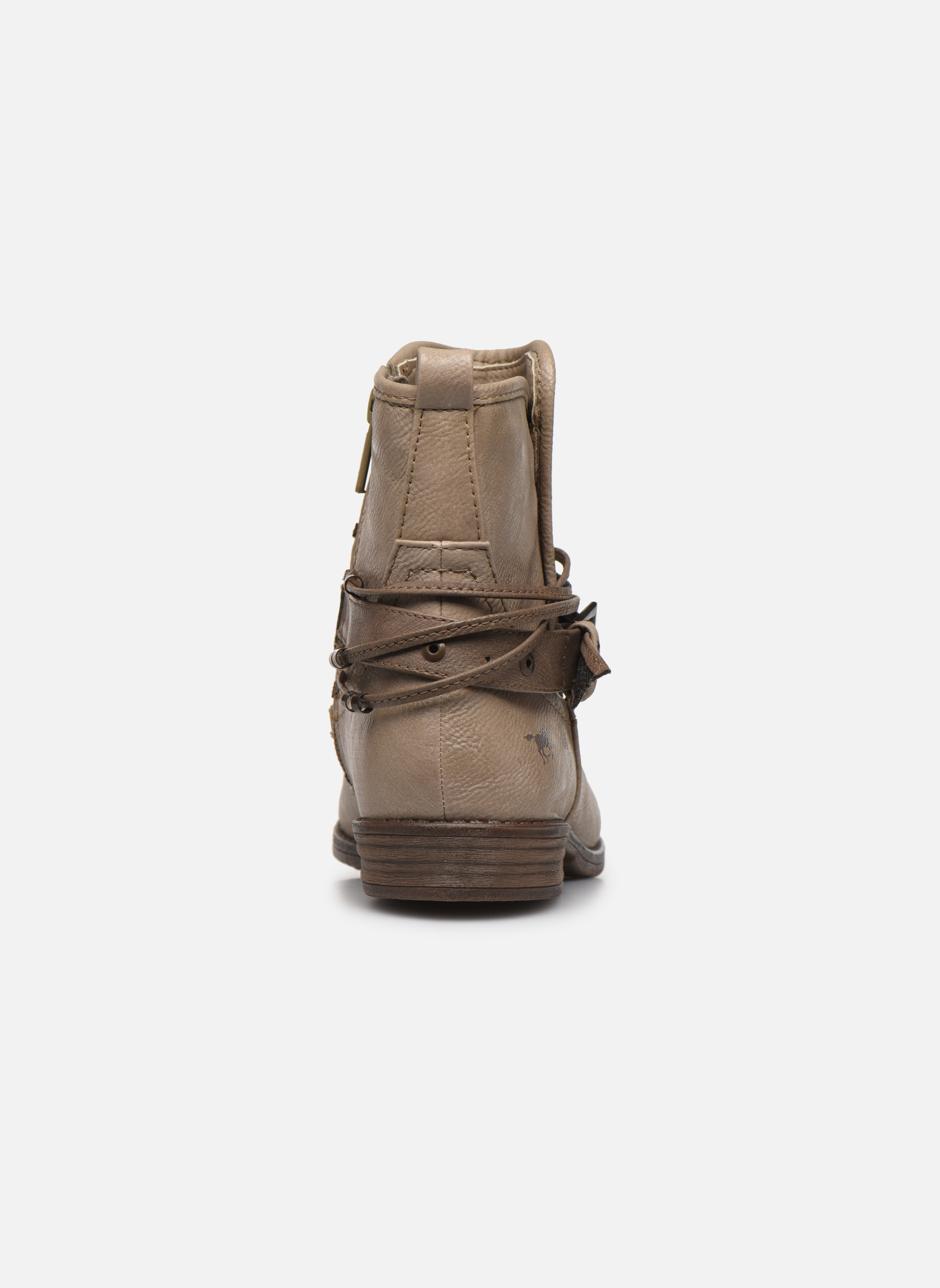 Bottines et boots Mustang shoes Himdele Beige vue droite
