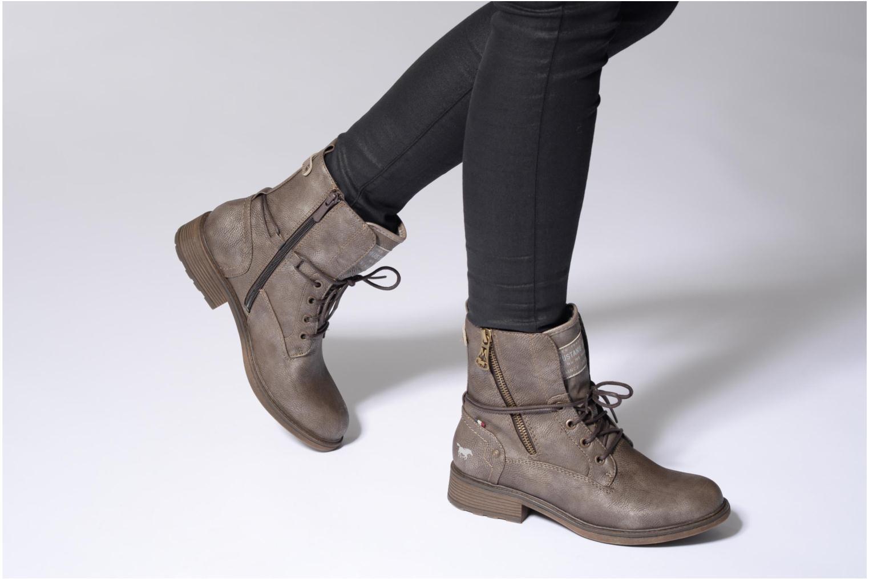 Bottines et boots Mustang shoes Sarliath Bleu vue bas / vue portée sac