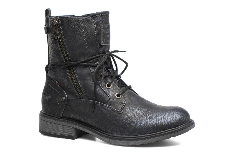 Bottines et boots Mustang shoes Sarliath Bleu vue détail/paire