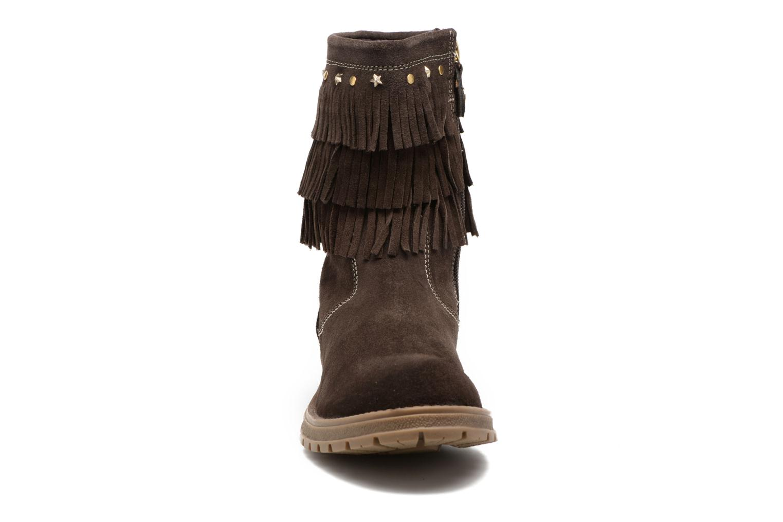 Bottes Gioseppo Nakoma Marron vue portées chaussures