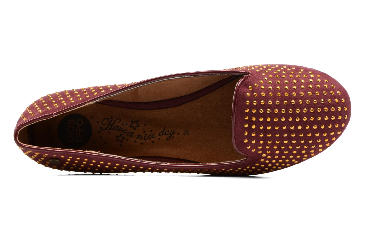 Loafers Gioseppo Gladys Burgundy view from the left