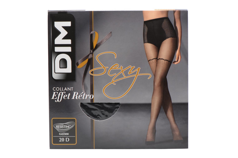 Chaussettes et collants Dim Collant Sexy Retro Pois Moderne Noir vue détail/paire