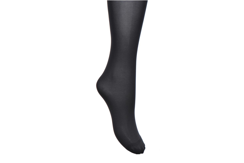 Chaussettes et collants Dim Collant Opaque Velouté Sans Ceinture Noir vue derrière