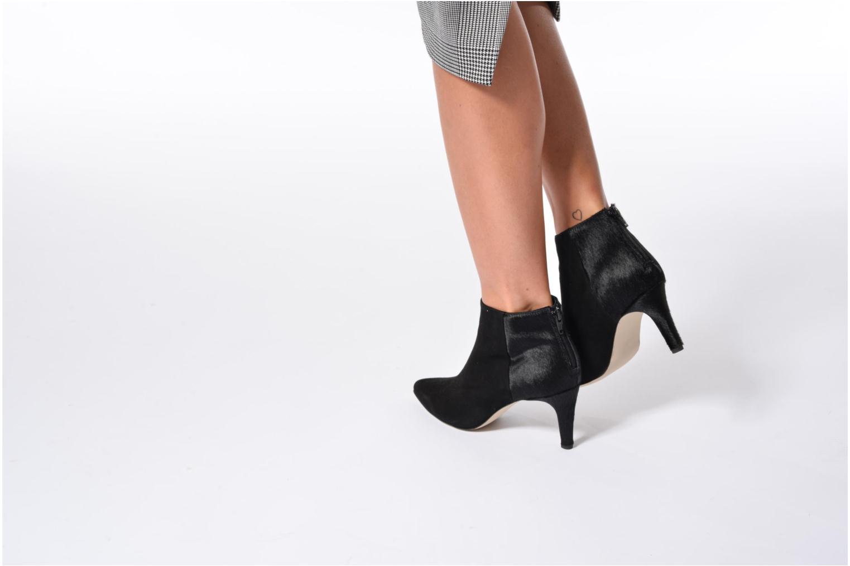 Bottines et boots Georgia Rose Girafe Noir vue bas / vue portée sac