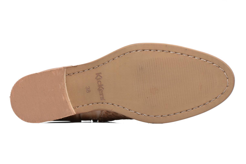 Bottines et boots Kickers Tuna Beige vue haut