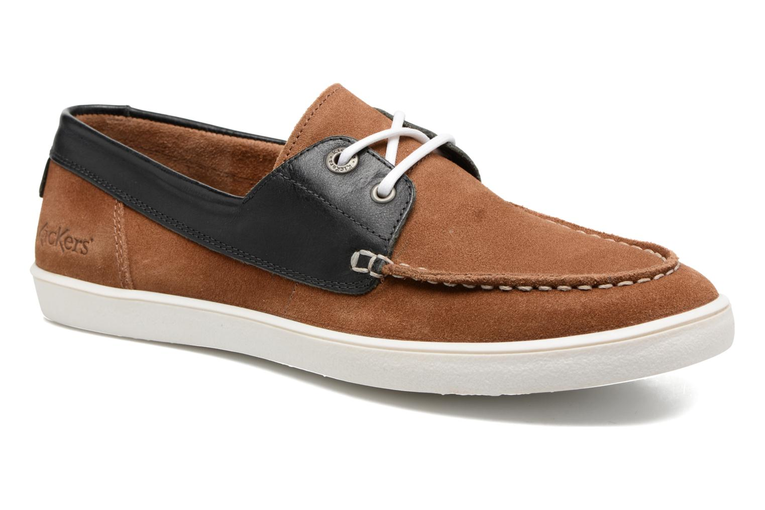 Marques Chaussure homme Kickers homme Calixine Bleu Fonce Camel