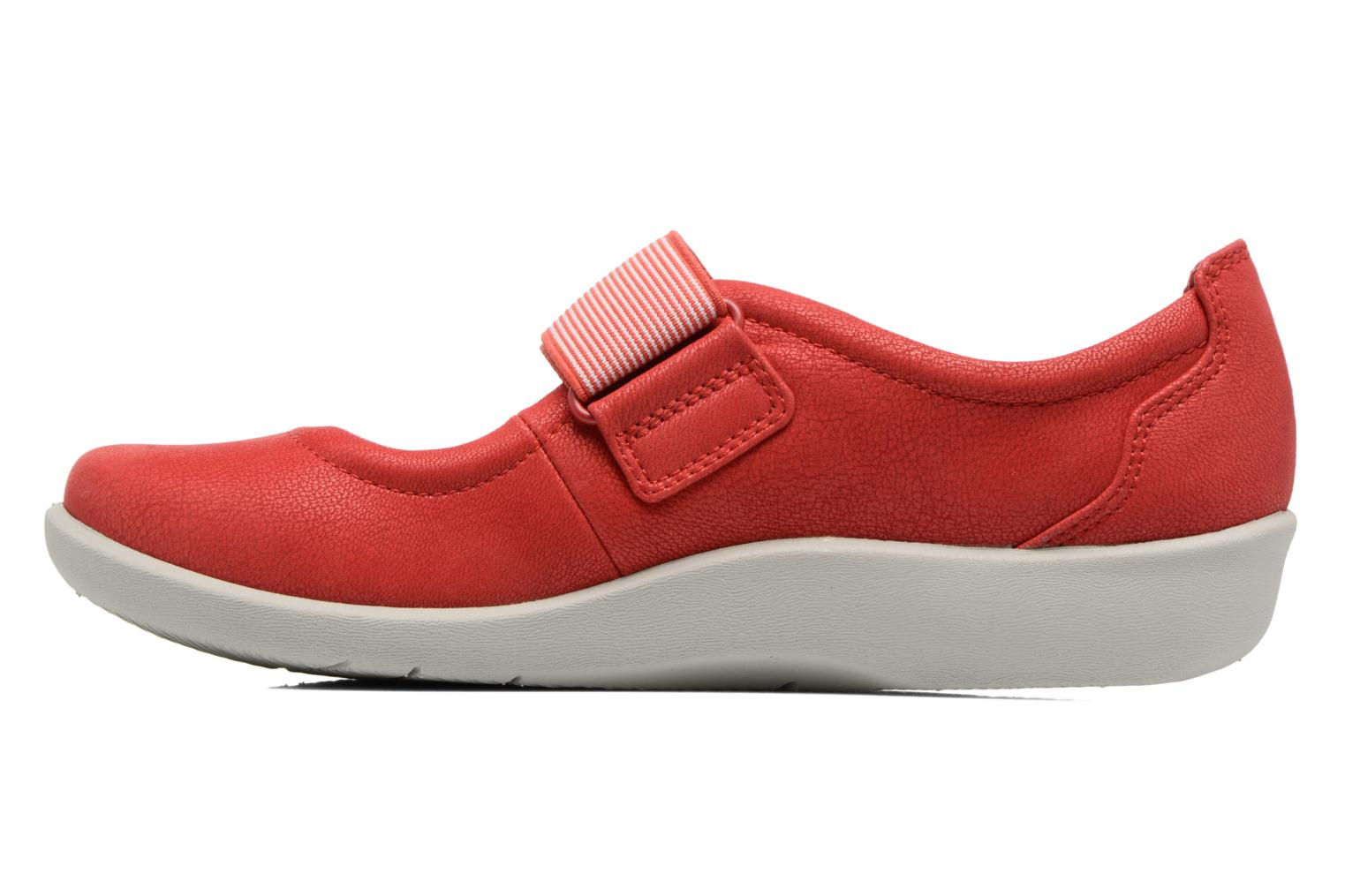 Ballet pumps Clarks Sillian Cala Red front view