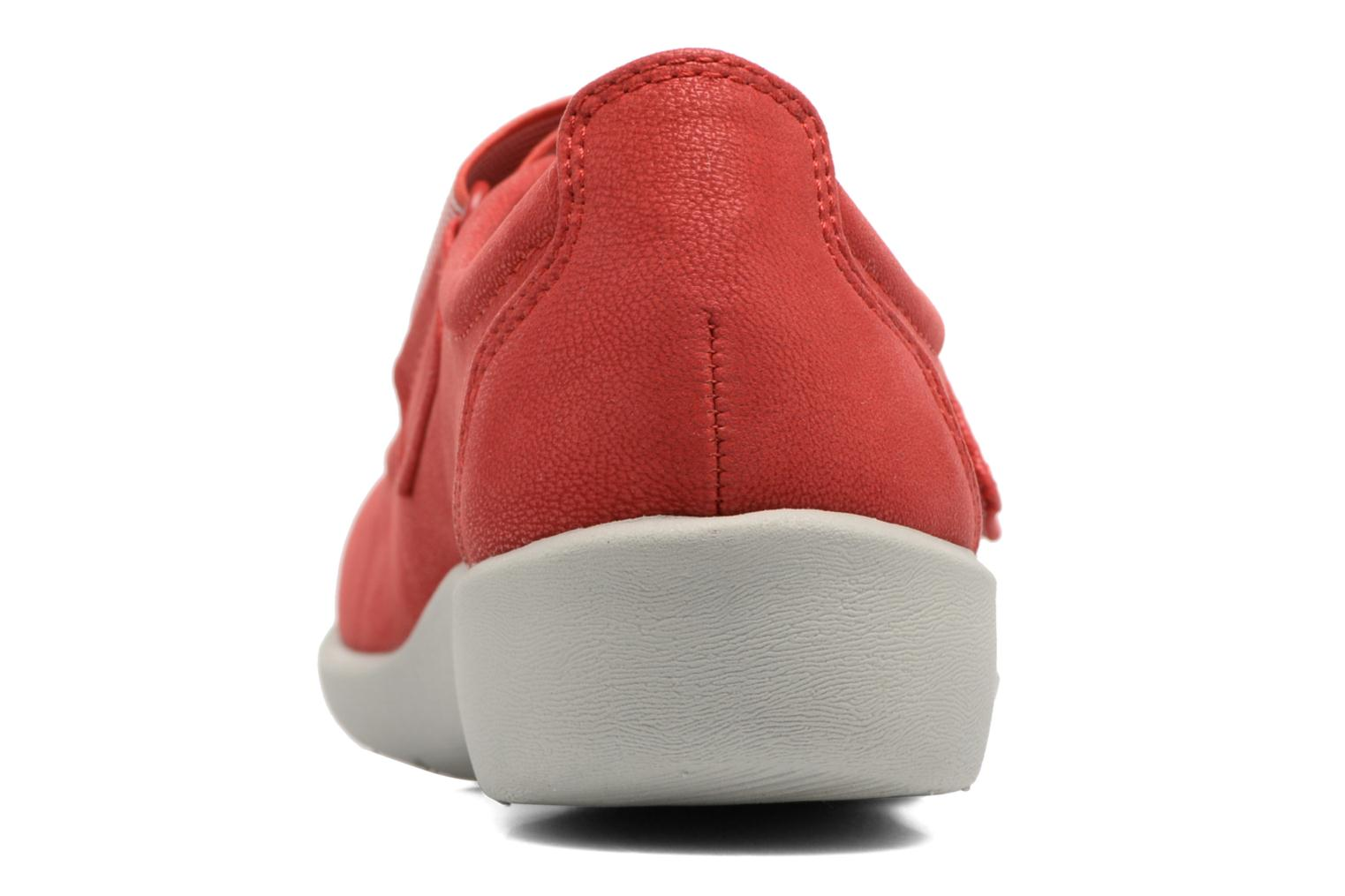 Ballet pumps Clarks Sillian Cala Red view from the right