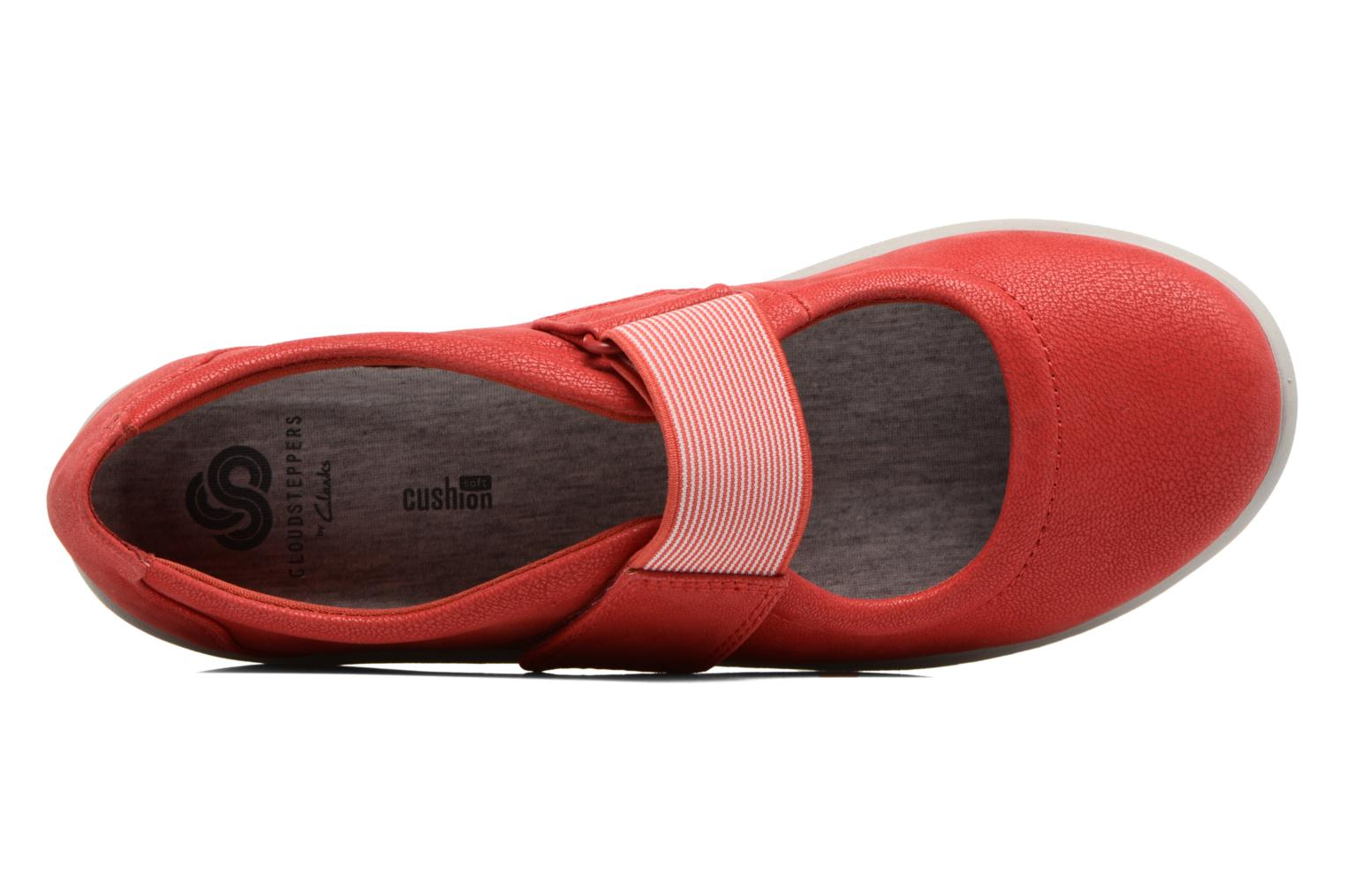 Ballet pumps Clarks Sillian Cala Red view from the left