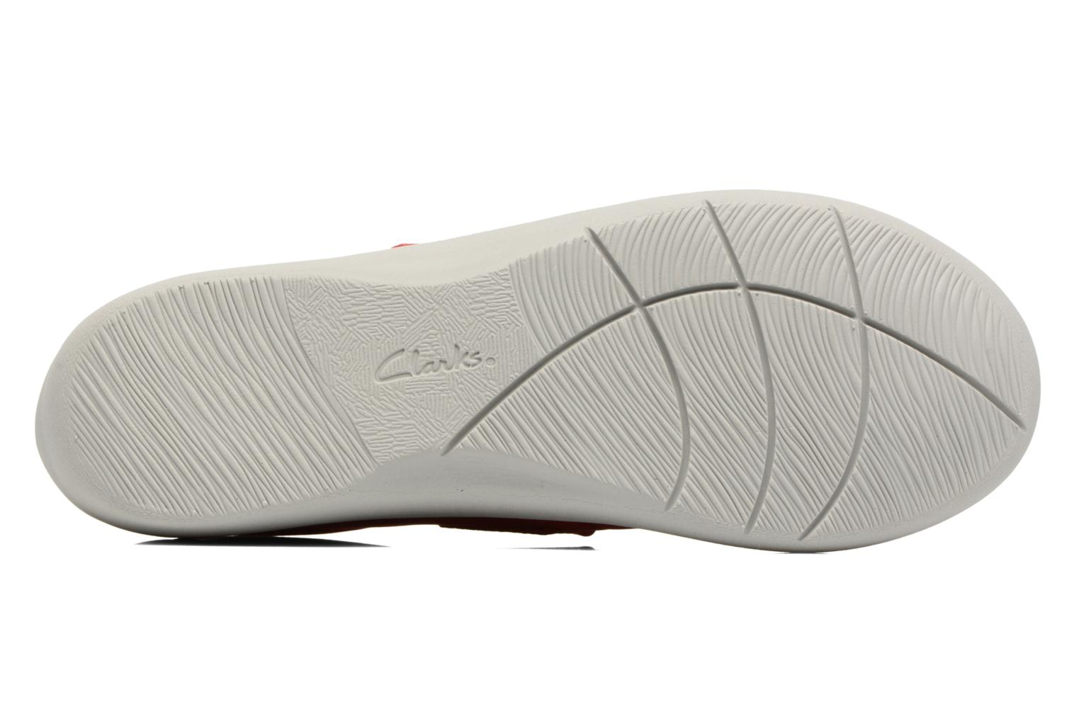 Ballet pumps Clarks Sillian Cala Red view from above
