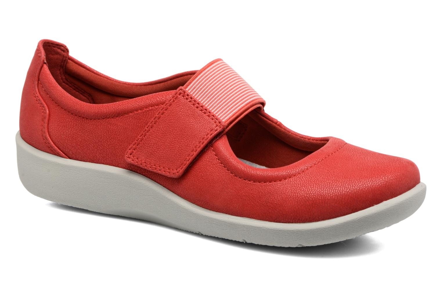Ballet pumps Clarks Sillian Cala Red detailed view/ Pair view