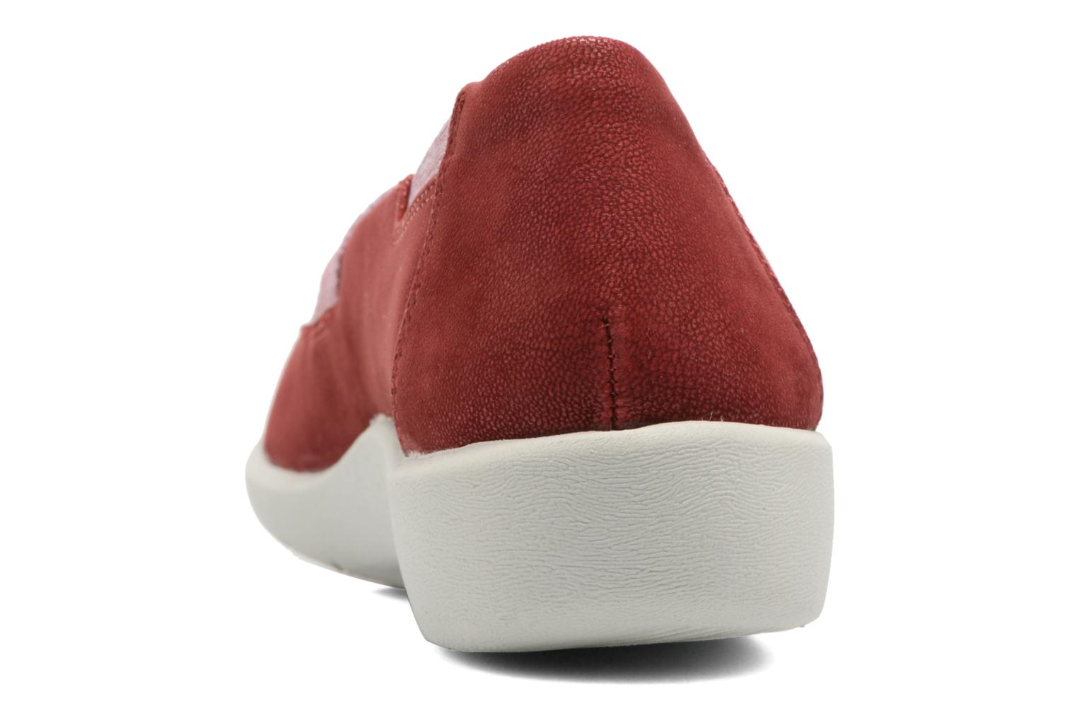 Ballet pumps Clarks Sillian Rest Red view from the right