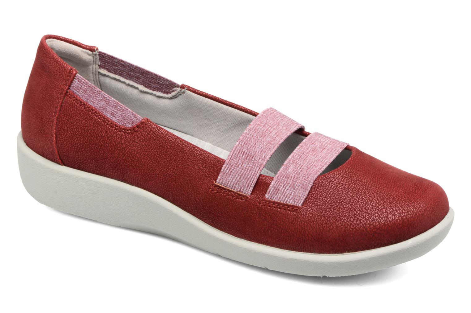 Ballet pumps Clarks Sillian Rest Red detailed view/ Pair view