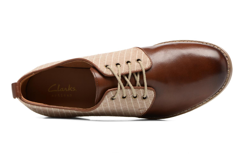 Scarpe con lacci Clarks Zyris Toledo Marrone immagine sinistra