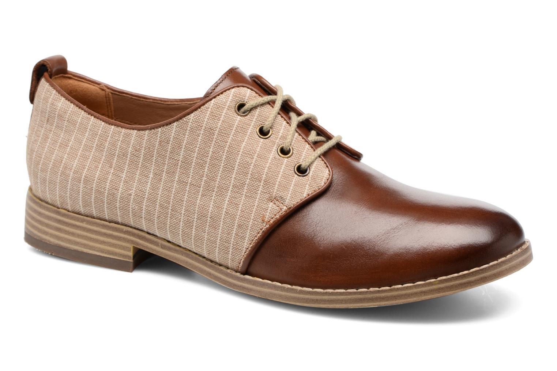 Chaussures à lacets Clarks Zyris Toledo Marron vue détail/paire