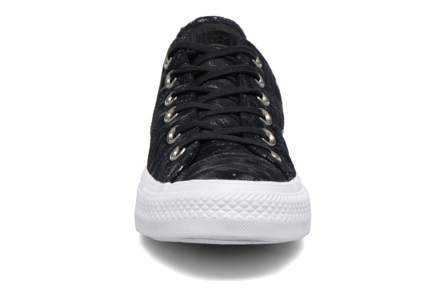 Chuck Taylor All Star Shimmer Suede Ox Black/black/white