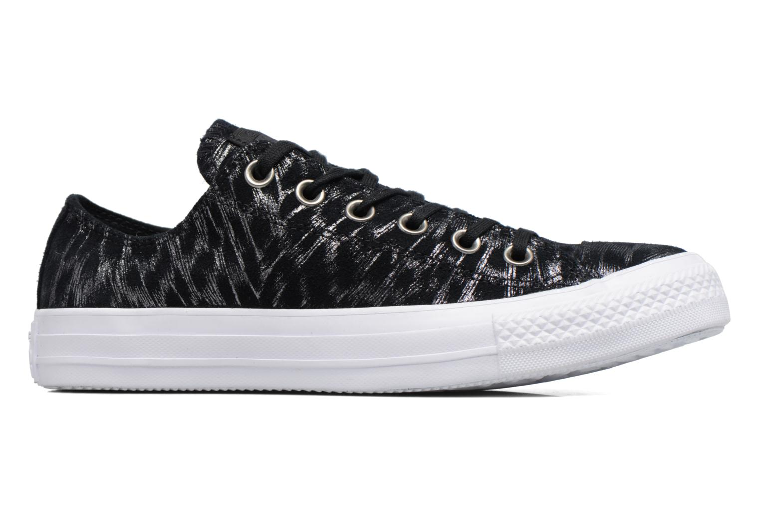Sneakers Converse Chuck Taylor All Star Shimmer Suede Ox Nero immagine posteriore
