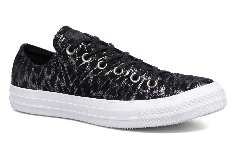 Sneakers Converse Chuck Taylor All Star Shimmer Suede Ox Sort detaljeret billede af skoene