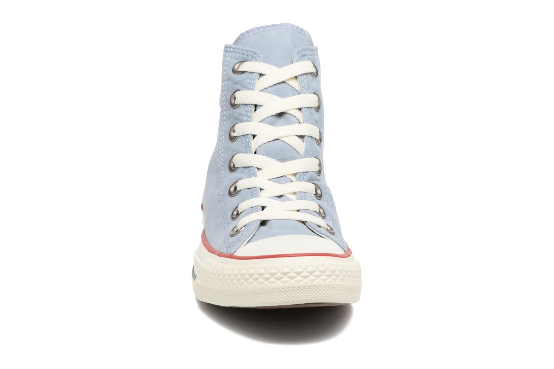 Baskets Converse Chuck Taylor All Star Ombre Wash Hi W Bleu vue portées chaussures
