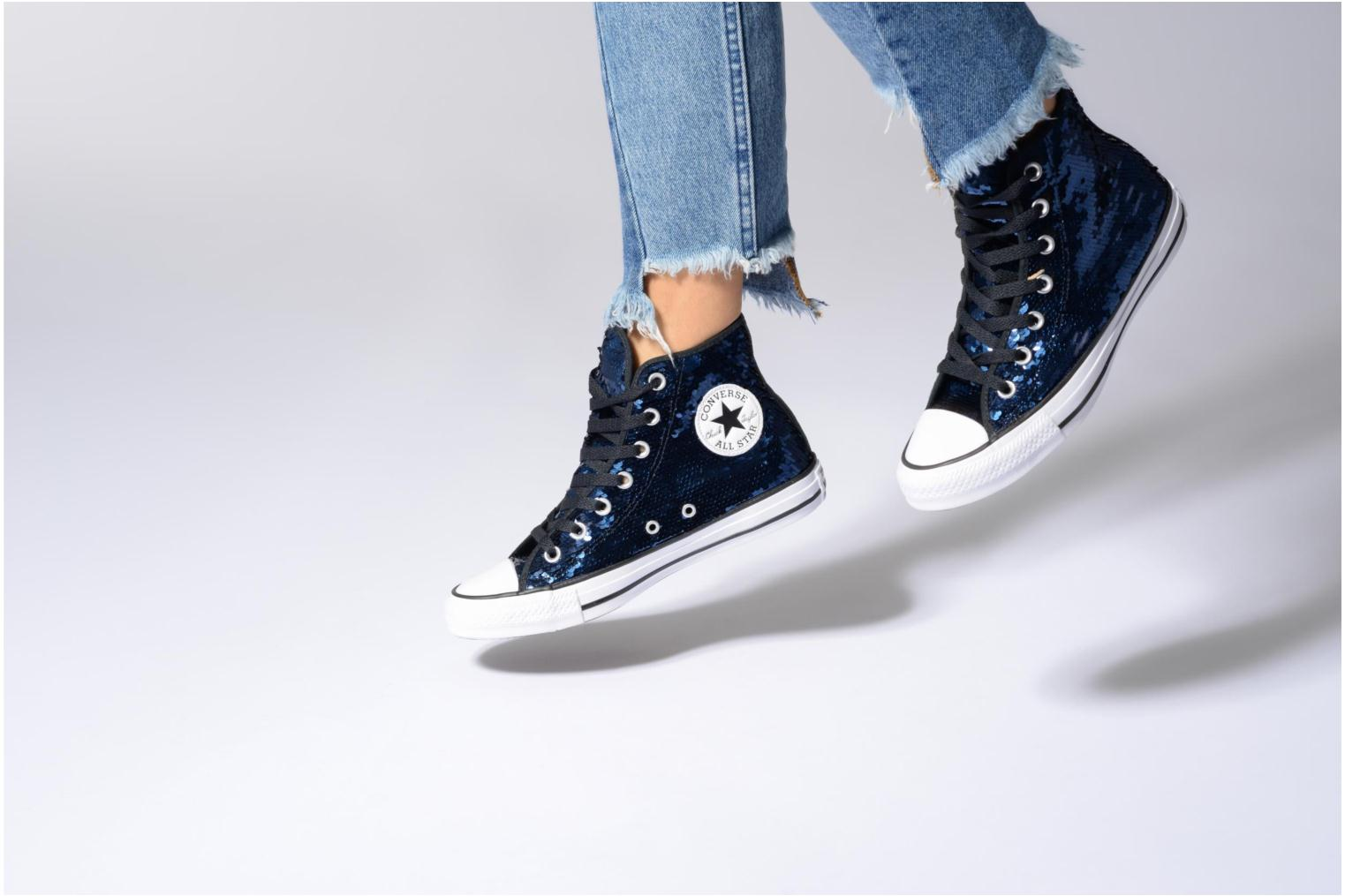 Sneakers Converse Chuck Taylor All Star Sequins Hi Argento immagine dal basso