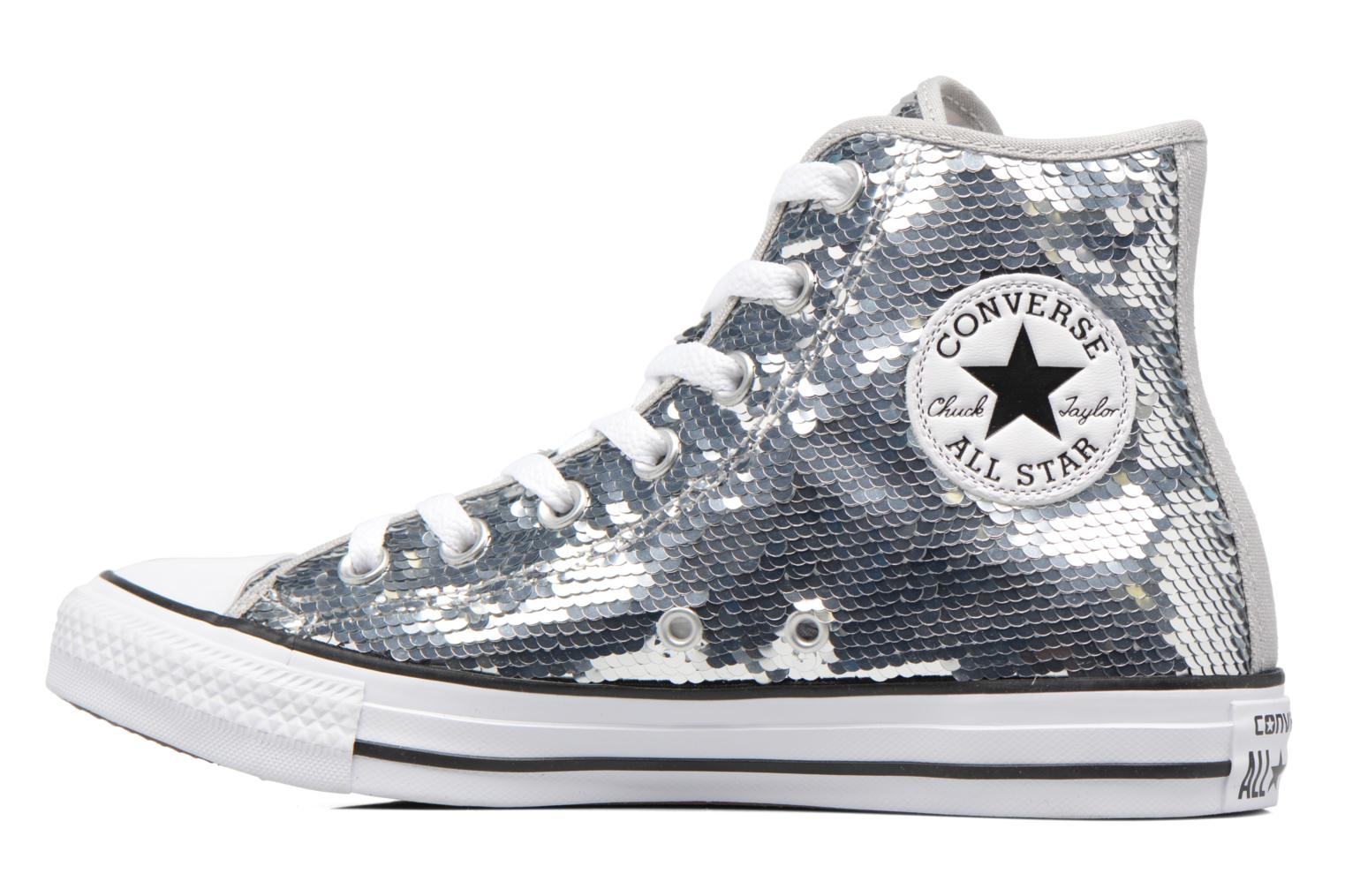 Sneakers Converse Chuck Taylor All Star Sequins Hi Argento immagine frontale