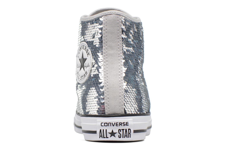Sneakers Converse Chuck Taylor All Star Sequins Hi Argento immagine destra