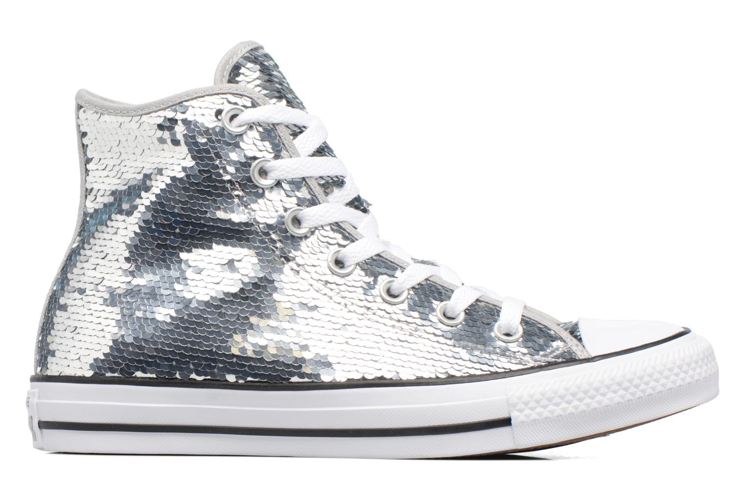 Sneakers Converse Chuck Taylor All Star Sequins Hi Argento immagine posteriore