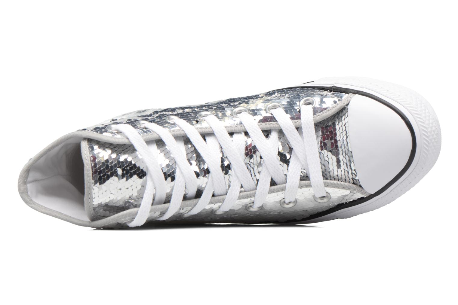 Sneakers Converse Chuck Taylor All Star Sequins Hi Argento immagine sinistra