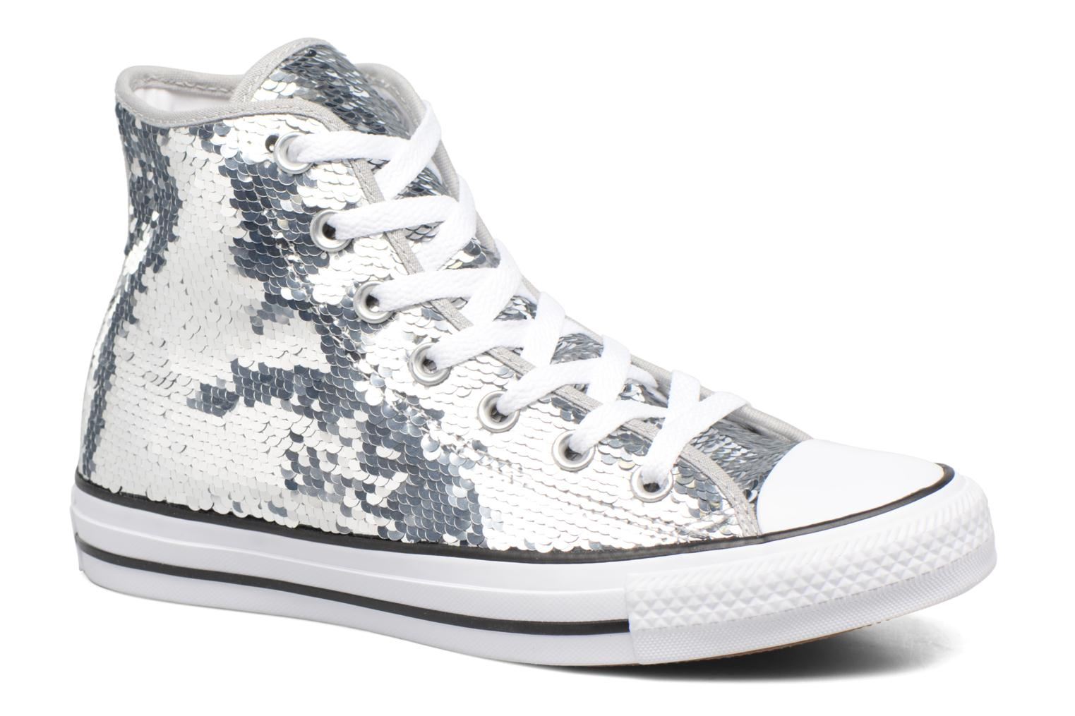 Chuck Taylor All Star Sequins Hi Silver/white/black
