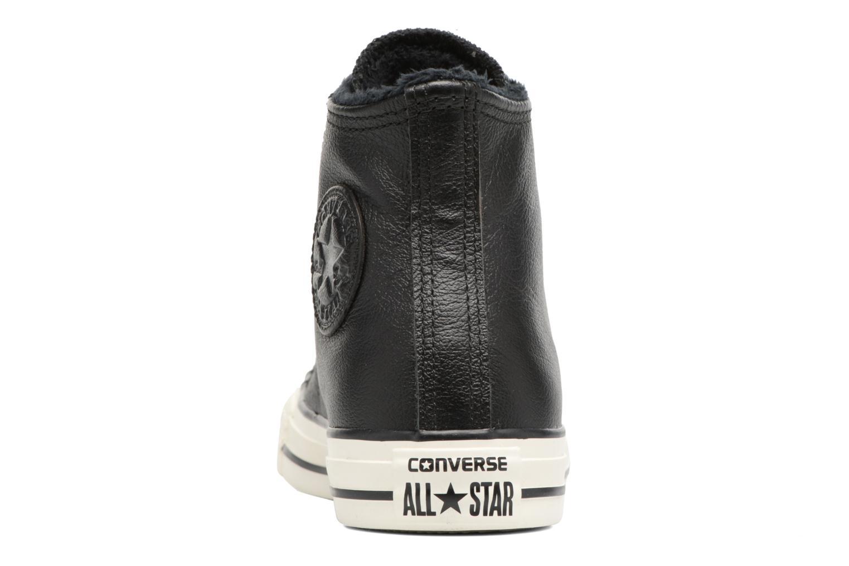 Baskets Converse Chuck Taylor All Star Leather + Fur Hi Noir vue droite