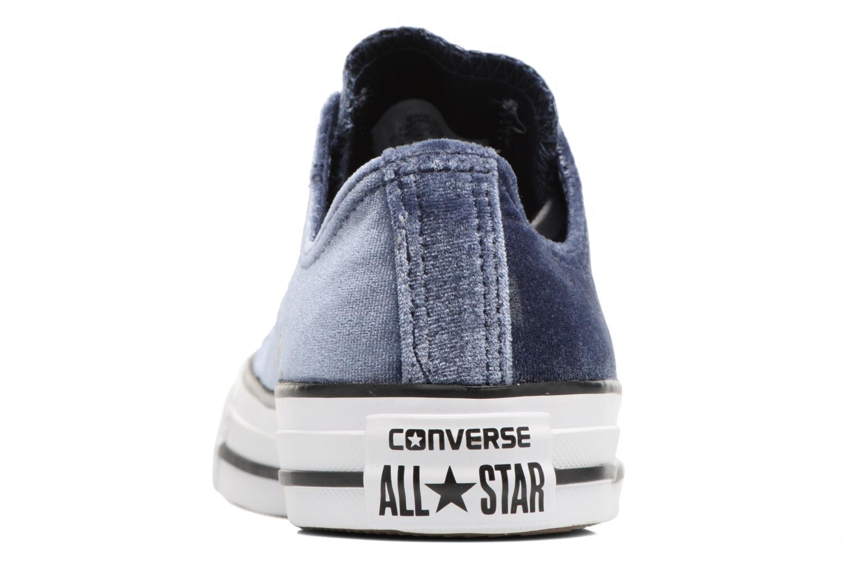 Baskets Converse Chuck Taylor All Star Velvet Ox Bleu vue droite