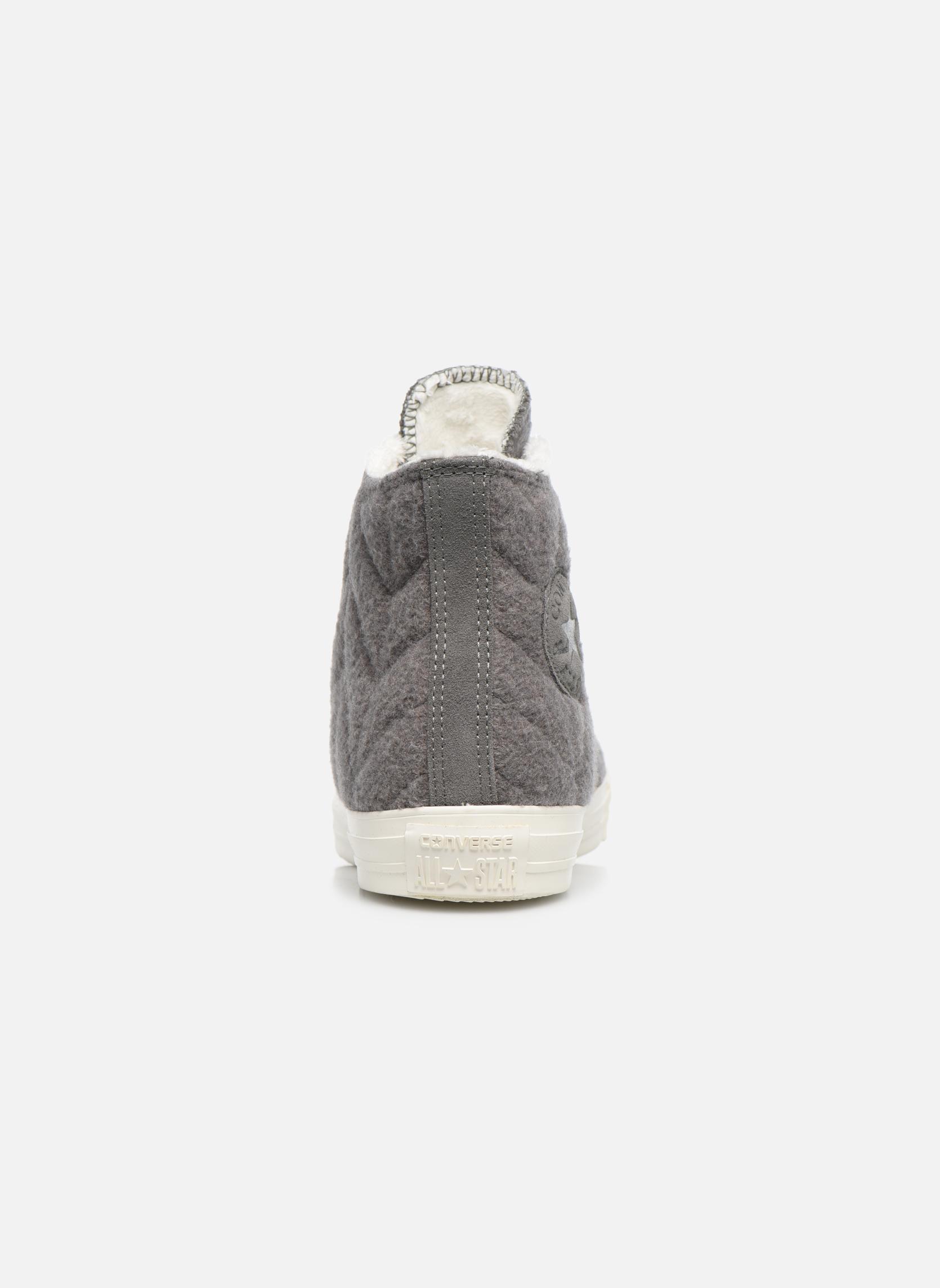 Sneakers Converse Chuck Taylor All Star Wool Hi Grijs rechts