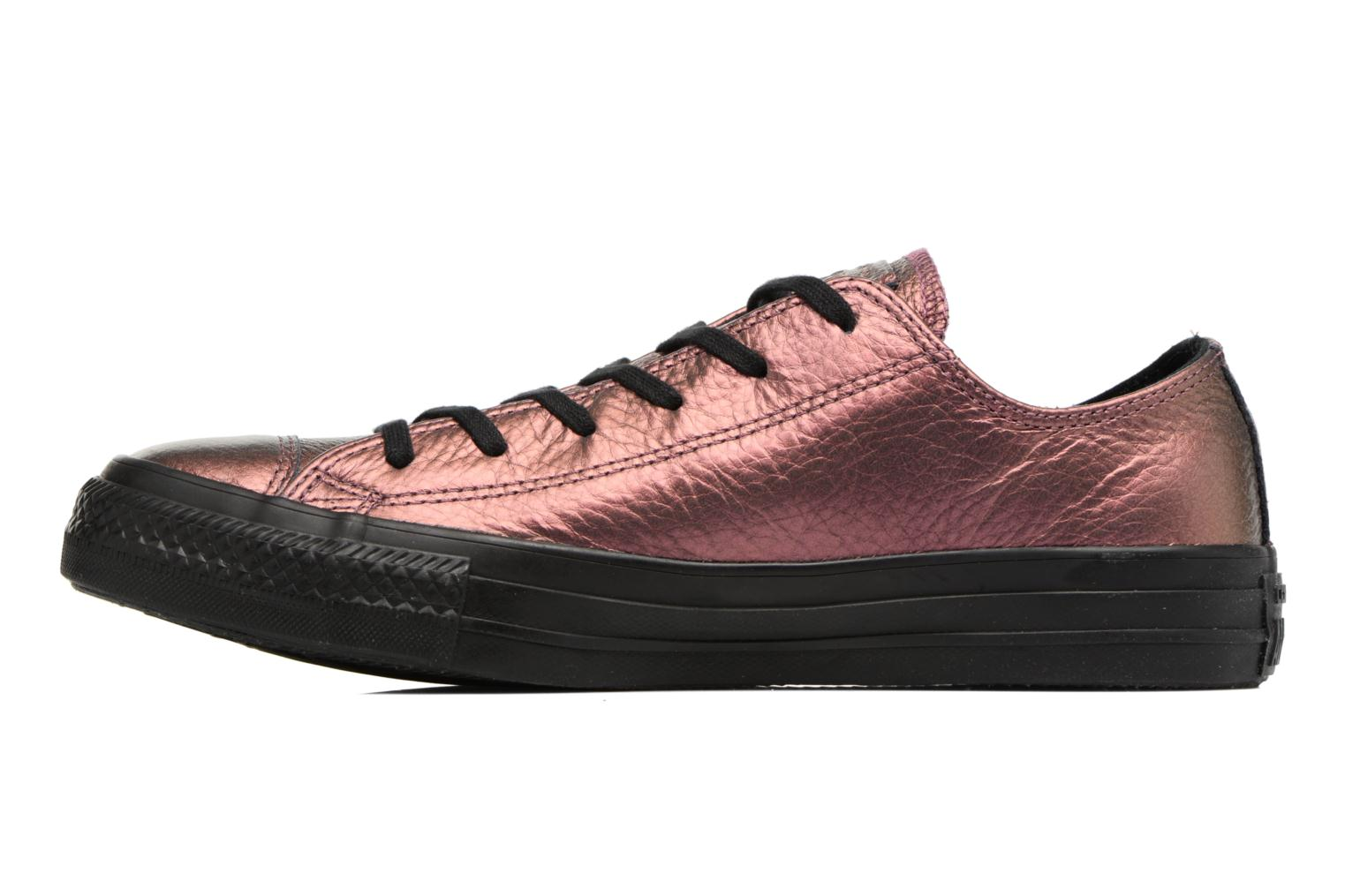 Baskets Converse Chuck Taylor All Star Iridescent Leather Ox Rose vue face