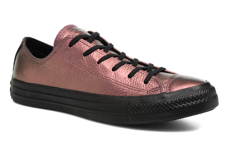 Zapatos de hombres y mujeres de moda casual Converse Chuck Taylor All Star Iridescent Leather Ox (Rosa) - Deportivas en Más cómodo