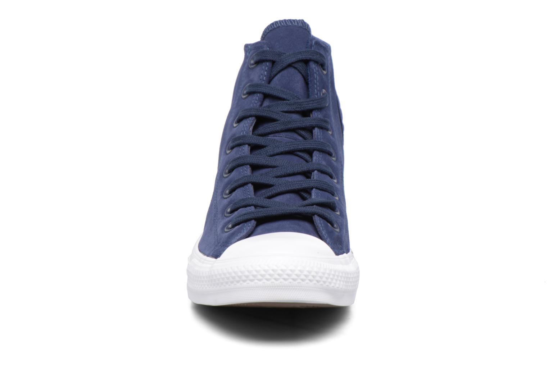 Sneaker Converse Chuck Taylor All Star Plush Suede Hi blau schuhe getragen