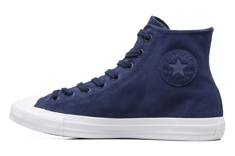 Sneaker Converse Chuck Taylor All Star Plush Suede Hi blau ansicht von vorne