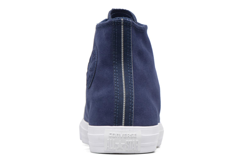 Sneaker Converse Chuck Taylor All Star Plush Suede Hi blau ansicht von rechts