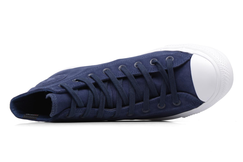 Sneaker Converse Chuck Taylor All Star Plush Suede Hi blau ansicht von links
